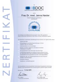 Lidzertifikat Dr. Janna Harder
